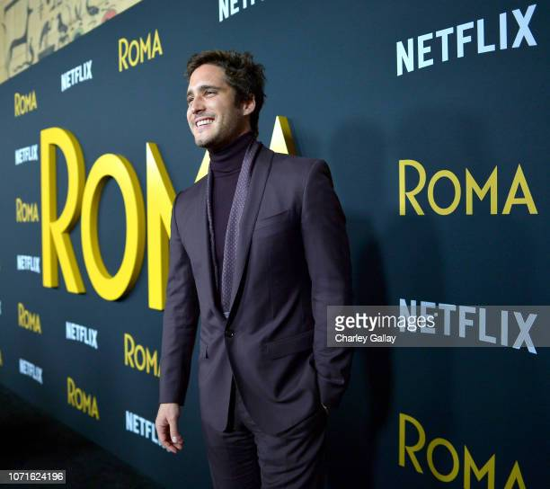 Diego Boneta attends the Netflix Roma Premiere at the Egyptian Theatre on December 10 2018 in Hollywood California