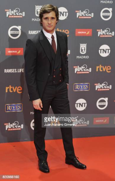 Diego Boneta attends the 'Platino Awards 2017' photocall at La Caja Magica on July 22 2017 in Madrid Spain