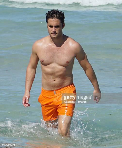 Diego Boneta is seen vacationing in Miami Beach on June 25 2016 in Miami Beach Florida