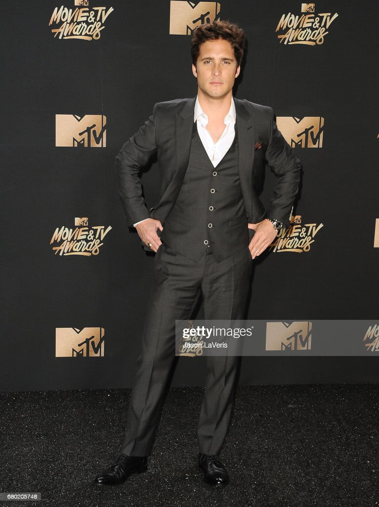 Diego Boneta poses in the press room at the 2017 MTV Movie and TV Awards at The Shrine Auditorium on May 7, 2017 in Los Angeles, California.