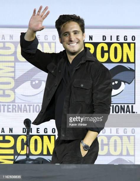 Diego Boneta speaks at the Terminator Dark Fate panel during 2019 ComicCon International at San Diego Convention Center on July 18 2019 in San Diego...