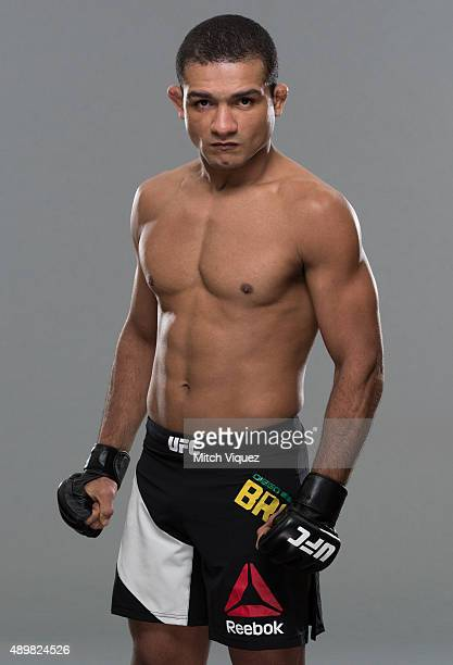 Diego Brandao poses during a UFC photo session on September 24 2015 in Tokyo Japan