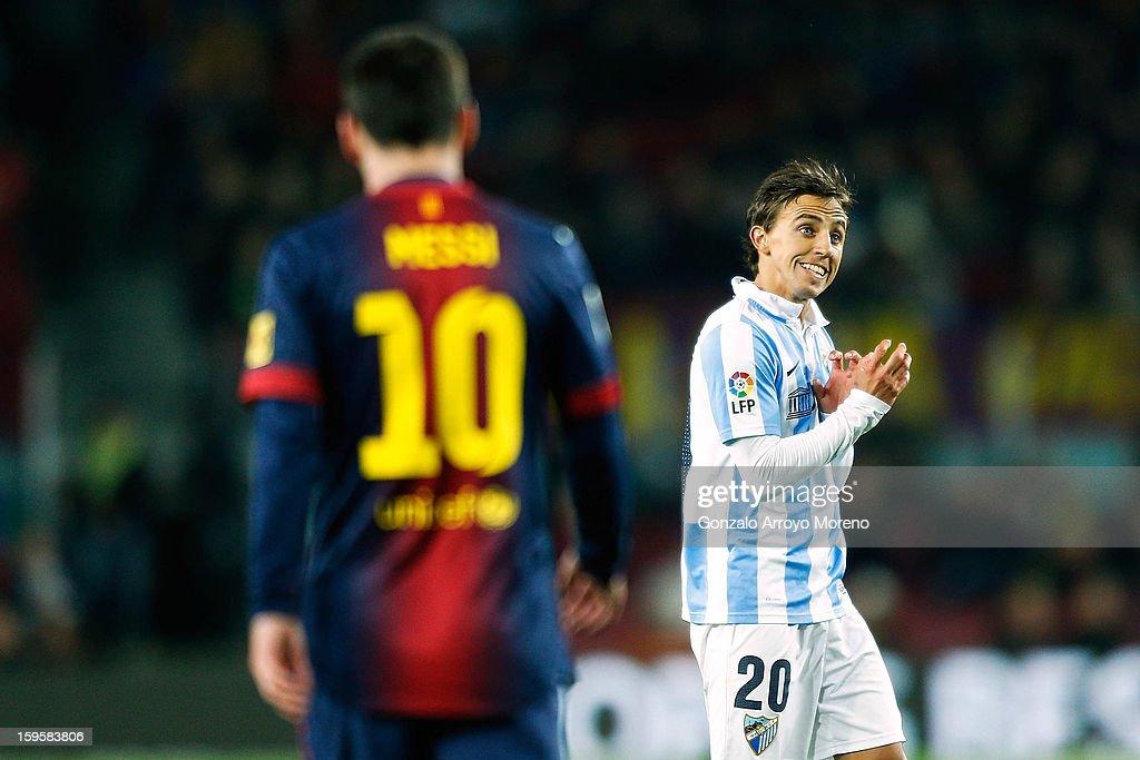Barcelona FC v Malaga CF - Copa del Rey Quarter Final : ニュース写真