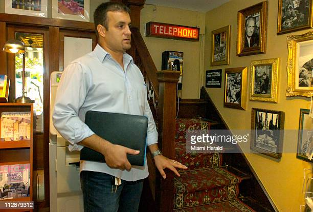 Diego Caiola pictured January 9 in the News Cafe magazine shop gives a preview of what will be included in his Versace Murder Tour This corner of the...