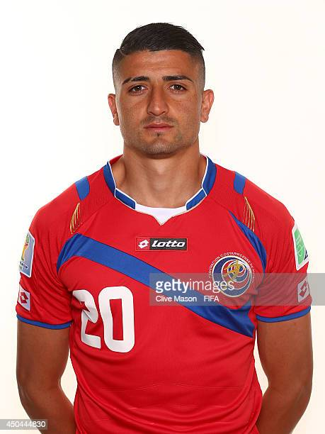 Diego Calvo of Costa Rica poses during the official FIFA World Cup 2014 portrait session on June 10 2014 in Sao Paulo Brazil