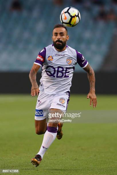 Diego Castro of the Glory controls the ball during the round 13 ALeague match between Sydney FC and Perth Glory at Allianz Stadium on December 30...