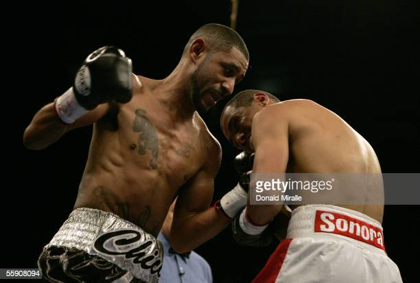 Diego Chico Corrales lands a punch against Jose Luis Castillo of Mexico during their Bout October 8 2005 at the Thomas Mack Center on the campus of...