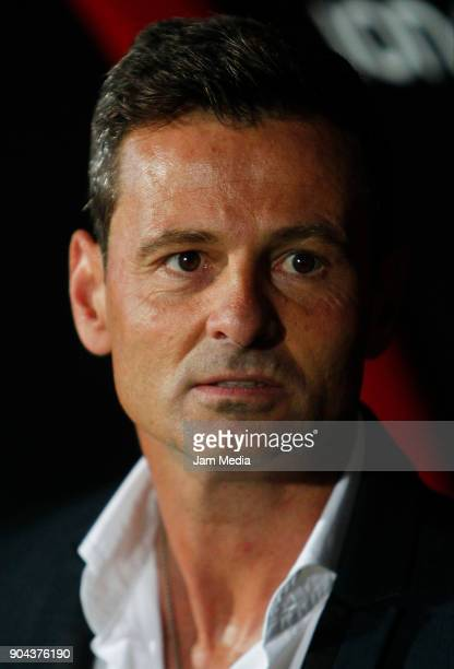 Diego Cocca coach of Tijuana looks on during the second round match between Tijuana and Necaxa as part of Torneo Clausura 2018 Liga MX at Caliente...