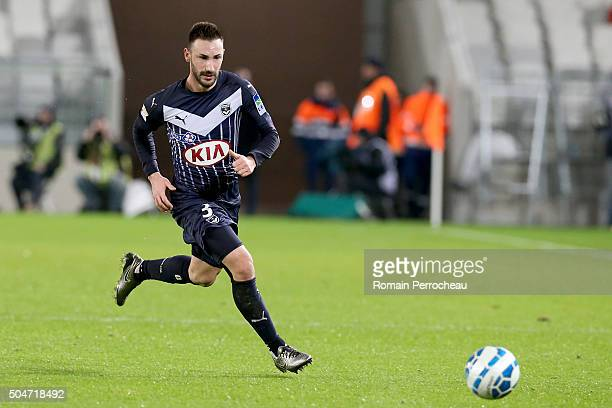 Diego Contento for Bordeaux in action during the French League Cup quarter final between Bordeaux and Lorient at Stade Matmut Atlantique on January...