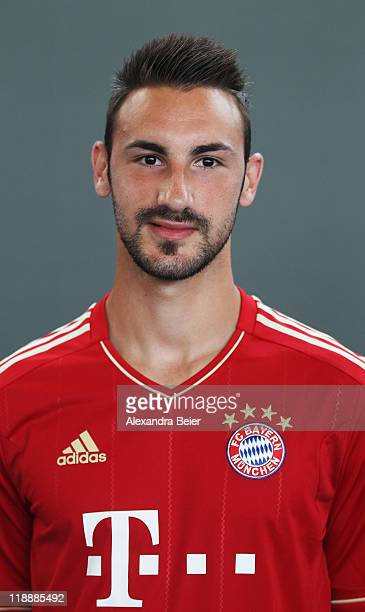 Diego Contento of Bayern Muenchen poses during the FC Bayern Muenchen team presentation for the upcoming season 2011/2012 at Bayern's training ground...