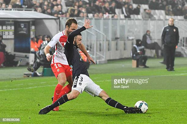 Diego CONTENTO of Bordeaux and Valere GERMAIN of Monaco during the French Ligue 1 match between Bordeaux and Monaco at Nouveau Stade de Bordeaux on...