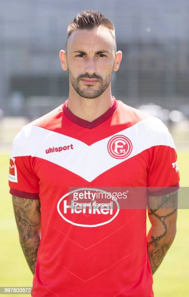 Diego Contento poses during the team presentation at Esprit Arena on July 13 2018 in Duesseldorf Germany