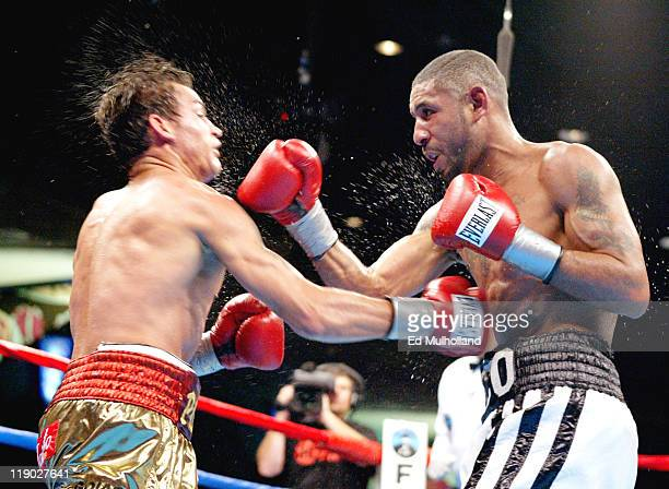 Diego Corrales and Acelino Freitas trade punches during their WBO Lightweight Championship bout at Foxwoods Casino Corrales won the title by knockout...