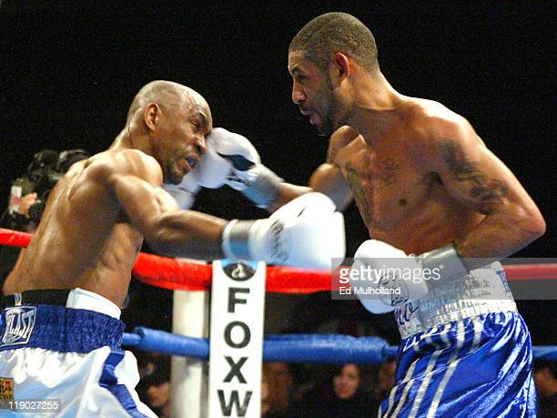 Diego Corrales lands a right hand to the head of Joel Casamayor during their bout at Foxwoods Casino Corrales captured the Junior Lightweight title...