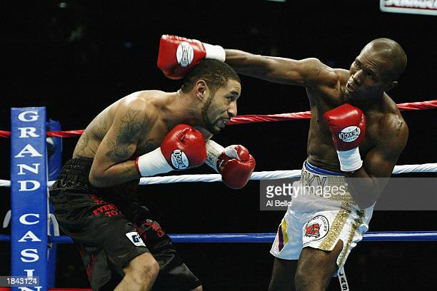 Diego Corrales slips a jab from Roque Cassiani during their junior lightweight bout at The Pyramid on February 22 2003 in Memphis Tennessee Corrales...
