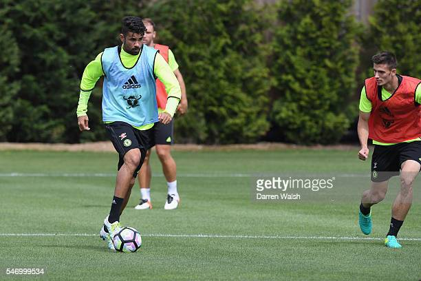 Diego Costa at Chelsea Training Ground on July 13 2016 in Cobham England