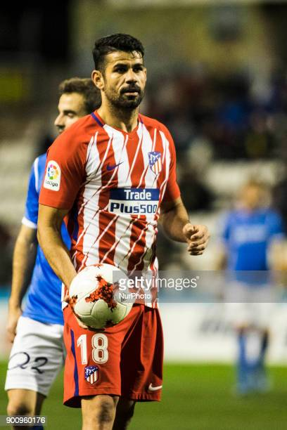 18 Diego Costa from Spain of Atletico de Madrid during the Copa del Rey Spanish King's Cup match between Lleida v Atletico de Madrid at Camp...