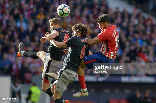 Diego Costa of Atletico de Madrid during a match between Real Madrid and Athletic de Bilbao at Wanda Metropolitano Stadium on February 18 2018 in...