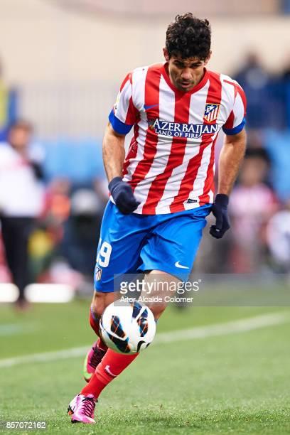 Diego Costa of Atletico de Madrid in action during the La Liga between Atletico de Madrid v RCD Espanyol at Estadio Vicente Calderon on February 24...