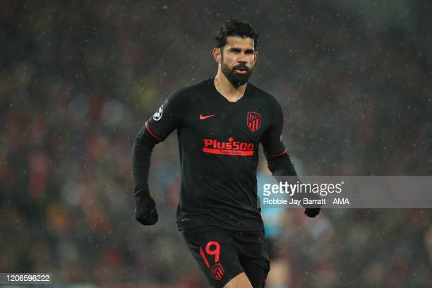 Diego Costa of Atletico Madrid during the UEFA Champions League round of 16 second leg match between Liverpool FC and Atletico Madrid at Anfield on...