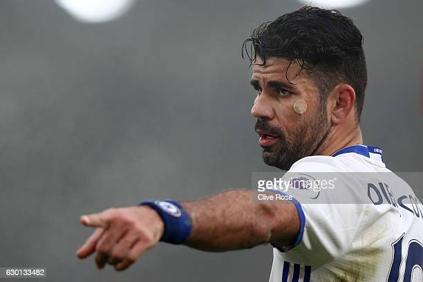Diego Costa of Chelsea during the Premier League match between Crystal Palace and Chelsea at Selhurst Park on December 17 2016 in London England