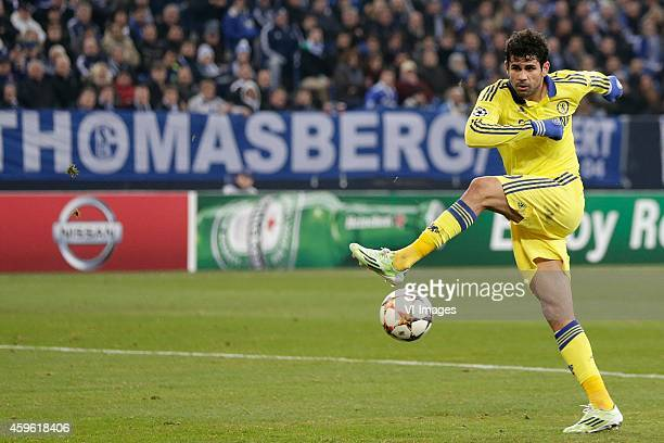 Diego Costa of Chelsea FC during the Champions League match between Schalke 04 and Chelsea at the Veltins Arena on november 25 2014 in Gelsenkirchen...