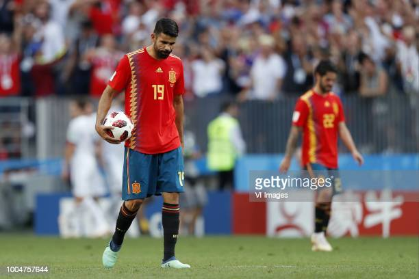 Diego Costa of Spain Isco of Spain during the 2018 FIFA World Cup Russia round of 16 match between Spain and Russia at the Luzhniki Stadium on July...
