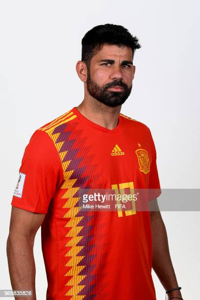 1f5b66fc9 Diego Costa of Spain poses for a portrait during the official FIFA World  Cup 2018 portrait
