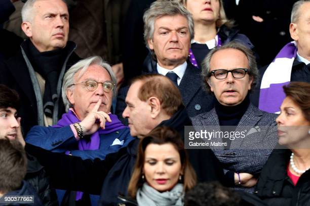 Diego Della Valle and Andrea Della Valle looks on during the serie A match between ACF Fiorentina and Benevento Calcio at Stadio Artemio Franchi on...