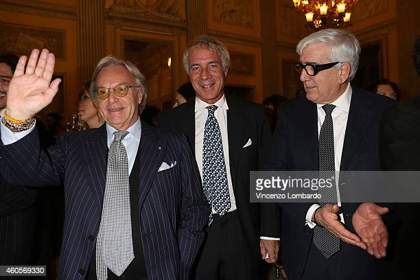 Diego Della Valle and guests attend the Fondazione IEO CCM Christmas Dinner For on December 16 2014 in Monza Italy