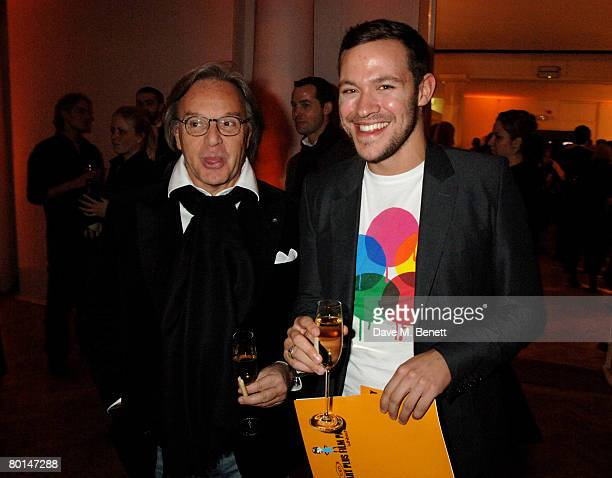 Diego Della Valle and Will Young attend the TOD's Art Plus Film Party, at 1 Marylebone Road on March 6, 2008 in London, England.