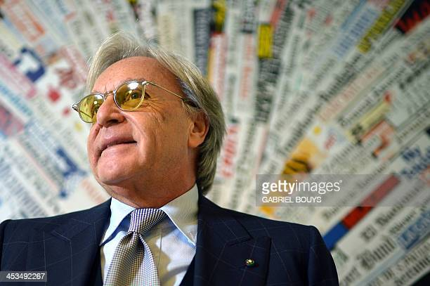Diego Della Valle, founder and chief executive of luxury shoe company Tod's, gives a press conference on December 04, 2013 in Rome. Della Valle is...