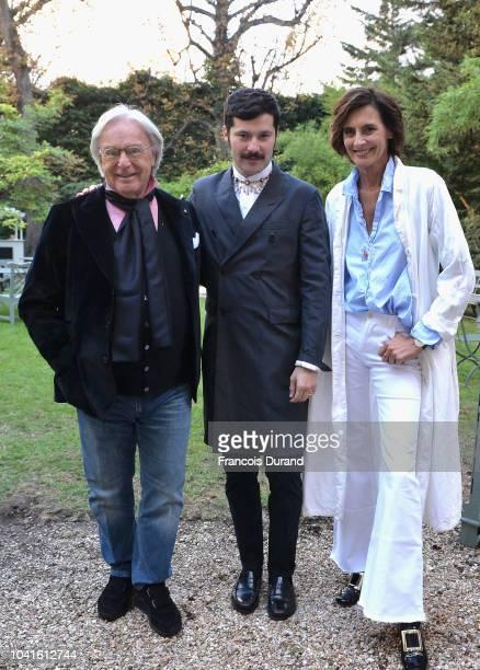 Diego Della Valle Gherardo Felloni and Ines de la Fressange attend the Roger Vivier Presentation Spring/Summer 2019 during Paris Fashion Week on...