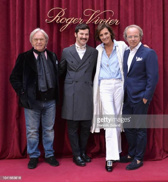 Diego Della Valle Gherardo Felloni Ines de la Fressange and Andrea Della Valle attend the Roger Vivier Presentation Spring/Summer 2019 during Paris...