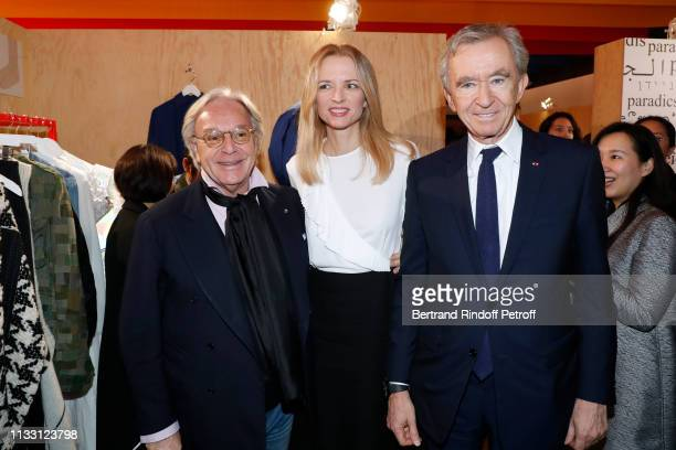 Diego Della Valle, Louis Vuitton's executive vice president Delphine Arnault and Owner of LVMH Luxury Group Bernard Arnault attend the LVMH Prize...