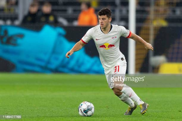 Diego Demme of Leipzig controls the ball during the Bundesliga match between Borussia Dortmund and RB Leipzig at Signal Iduna Park on December 17,...