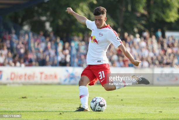 Diego Demme of Leipzig during the Pre Season Friendly Match between FC Grimma and RB Leipzig at Stadium of friendship on July 20, 2018 in Grimma,...