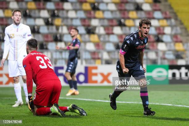 Diego Demme of Napoli celebrates after scoring the first goal of Napoli during the UEFA Europa League Group F stage match between HNK Rijeka and SSC...