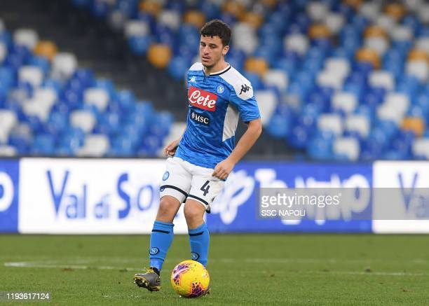 Diego Demme of Napoli during the Coppa Italia match between SSC Napoli and Perugia on January 14 2020 in Naples Italy