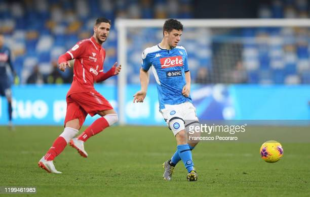 Diego Demme of SSC Napoli during the Coppa Italia match between SSC Napoli and Perugia on January 14 2020 in Naples Italy