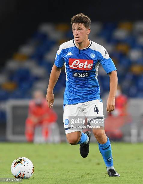 Diego Demme of SSC Napoli during the Serie A match between SSC Napoli and Udinese Calcio at Stadio San Paolo on July 19, 2020 in Naples, Italy.