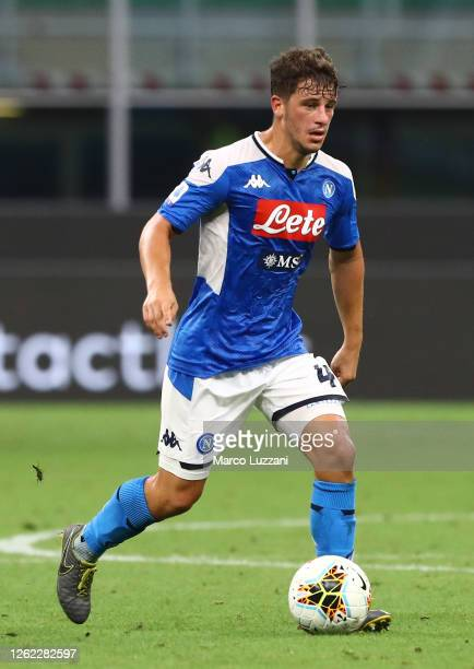 Diego Demme of SSC Napoli in action during the Serie A match between FC Internazionale and SSC Napoli at Stadio Giuseppe Meazza on July 28, 2020 in...