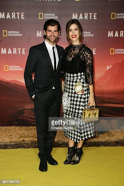 Diego Dominguez and Clara Alonso attend the premiere of 'Marte' at The Space Moderno on November 8 2016 in Rome Italy
