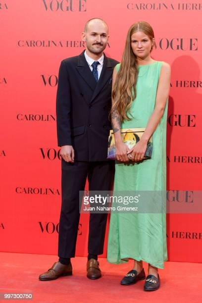 Diego Echevarria and Maria Rosenberg attends Vogue 30th Anniversary Party at Casa Velazquez on July 12 2018 in Madrid Spain