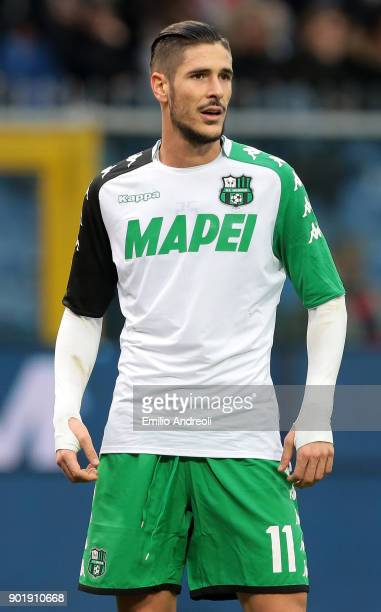 Diego Falcinelli of US Sassuolo Calcio looks on during the serie A match between Genoa CFC and US Sassuolo at Stadio Luigi Ferraris on January 6 2018...
