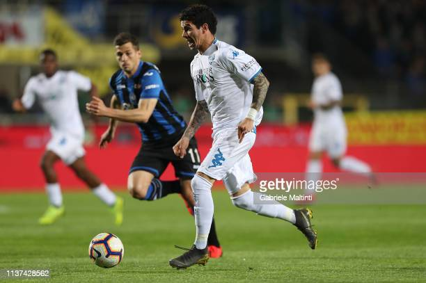 Diego Farias of Empoli FC in action during the Serie A match between Atalanta BC and Empoli at Stadio Atleti Azzurri d'Italia on April 15 2019 in...