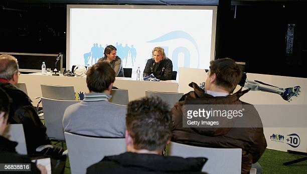 Diego Forlan attends a pressconference during the Major adidas F50 Tunit Launch Event on February 13 2006 in Munich