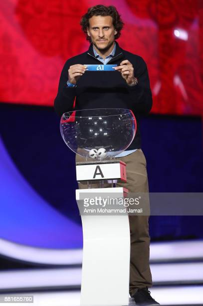 Diego Forlan looks on during the Behind the Scenes of the Final Draw for the 2018 FIFA World Cup at the Draw hall on November 29 2017 in Moscow Russia