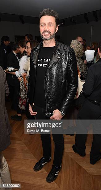 Diego Fortunato attends the VIP opening reception for the new Colnaghi gallery featuring the exhibition 'Vanitas' on October 7 2016 in London England