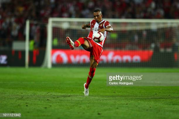Diego Galo of Desportivo das Aves during the match between FC Porto and Desportivo das Aves for the Portuguese Super Cup at Estadio Municipal de...